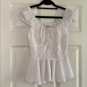 Guess white detailed blouse